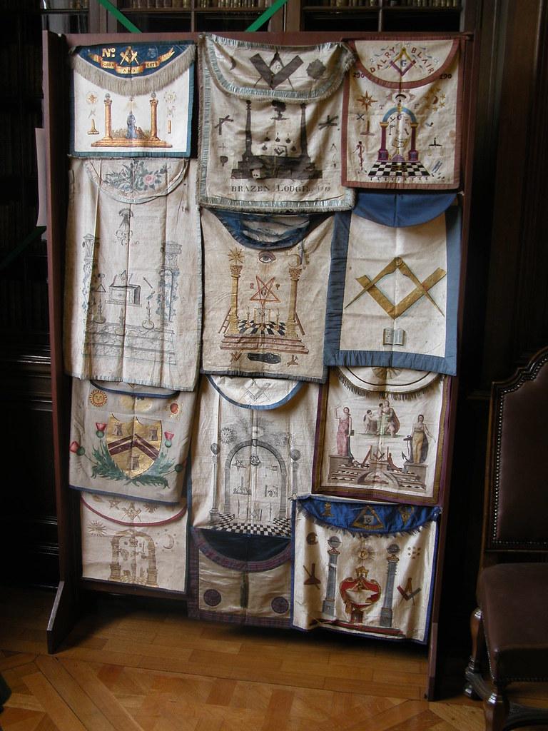 Masonic Aprons | On display in the Masonic Museum, Freemason… | Flickr