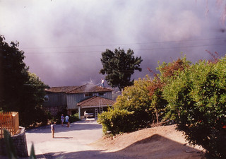 Oakland Hills fire from our house, October 91