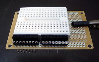 arduino breadboard shield | by todbot