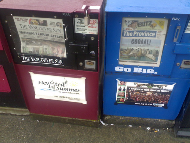 Differing Priorities of Vancouver's Two Newspapers