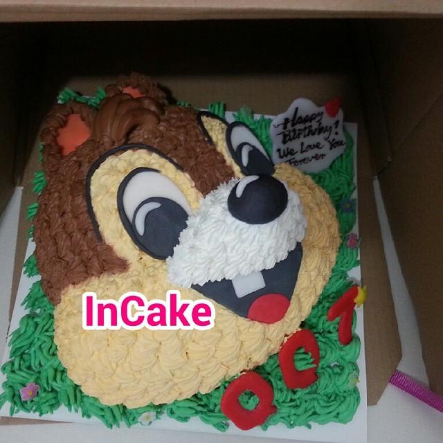 Chip & Dale 3D蛋糕,3D Cake 立體蛋糕