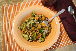 lentils and quinoa with butternut squash and broccoli | by rachelakelso