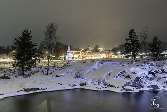 Kongsberg city and snow