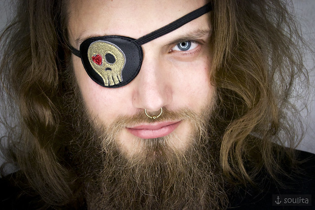 *Golden Skull with Heart* - Augenklappe | Eye Patch