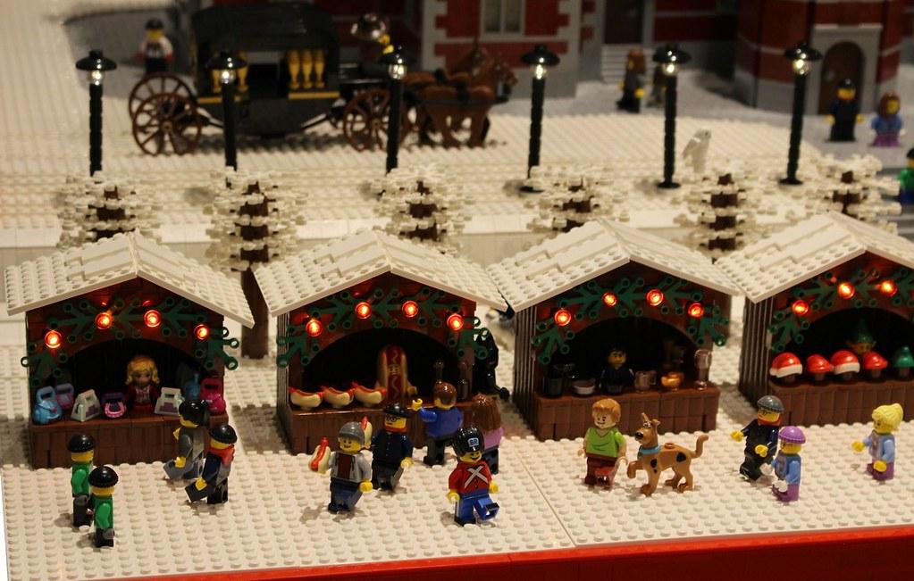 Lego Christmas.Lego Christmas Layout Christmas Stalls Built By Lasse Vest