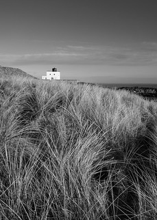 Bamburgh lighthouse mono | by Alf Branch