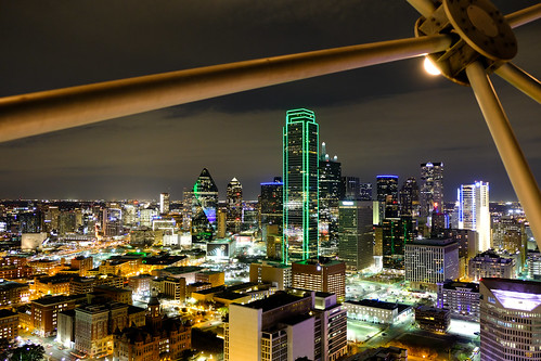 dallas texas reunion tower views fujifilm xt2 fuji colors lights