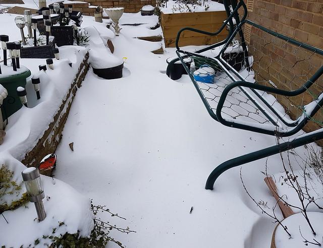 Deep snowdrift