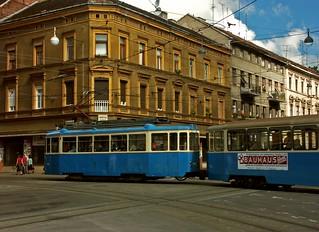 Zagreb Tram. Croatia. Stock Photo