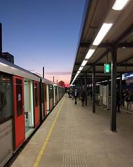 Station Amsterdam Zuid #noordzuidlijn #sunset #perspective