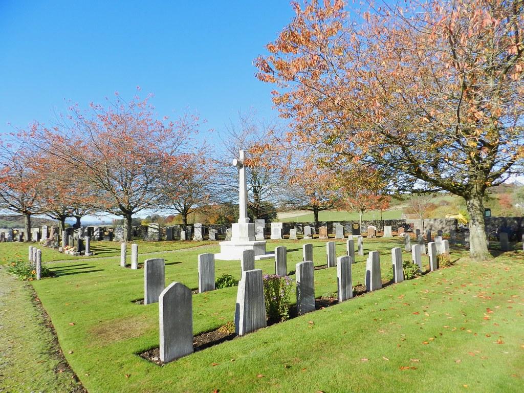 Commonwealth War Graves, Old Dyce Churchyard, Dyce, Aberdeen, Oct 2018