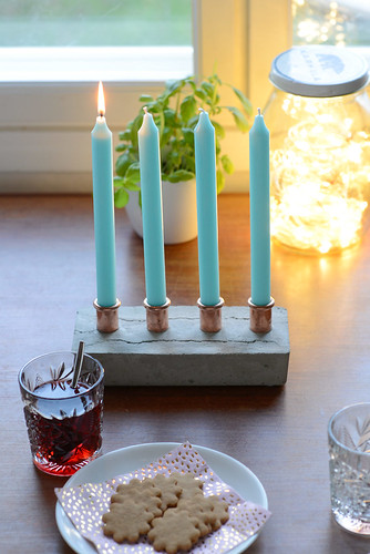 DIY candle holder for advent | by jutta / kootut murut