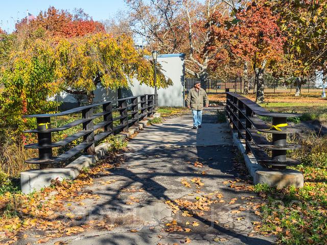 Inwood Hill Park Pedestrian Bridge over Spuyten Duyvil Inlet, New York City
