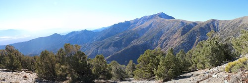 0791 Panorama view of Telescope Peak from the trail as we climb toward the ridgline | by _JFR_
