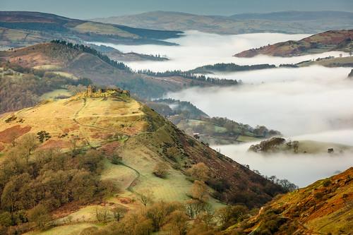 castell dinas bran llangollen mist north wales cymru mountain sony a7rii canon 70200 f4 l