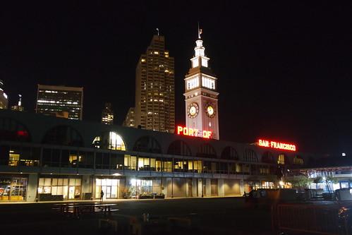 Embarcadero at night