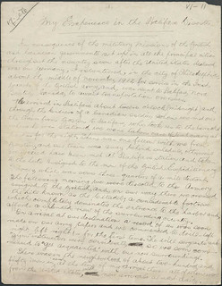 Account related to the Halifax Explosion, page 1 / Texte manuscrit relatant l'explosion d'Halifax (page 1)