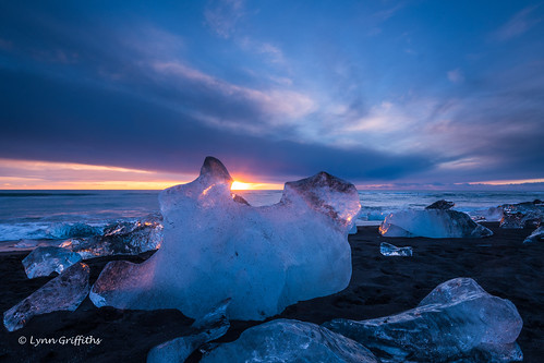 beach sunrise morninglight landscape ocean glacier coast blacksand ice landscapephotography outdoorphotography water easternregion iceland is coth