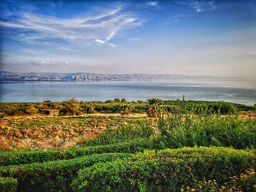 Lake Tiberias seen from Mount of Beatitudes | by johnrdorazio