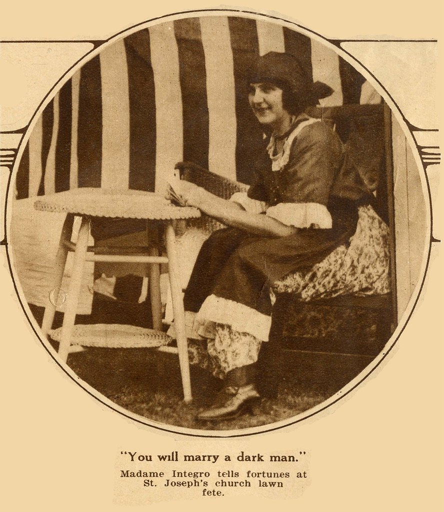 Fortune Teller Madame Integro, Waterbury CT  1923 | The myst… | Flickr