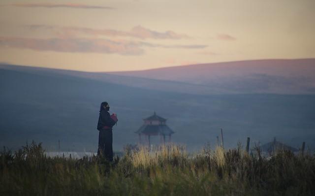 Praying at Sershul monastery, Tibet 2018