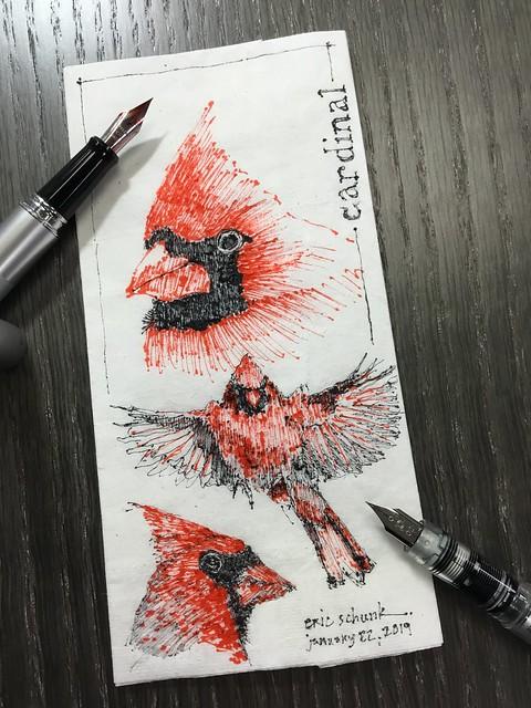 Cardinal - napkin