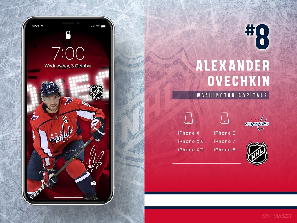 Alexander Ovechkin (Washington Capitals) iPhone Wallpaper