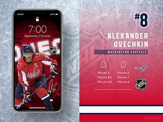 #8 Alexander Ovechkin (Washington Capitals) iPhone Wallpapers | by Rob Masefield (masey.co)
