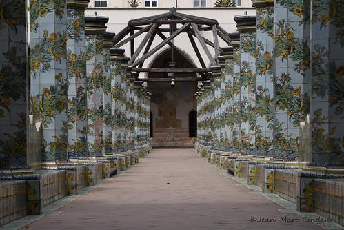 Naples : Cloître de Santa Chiara   by CpaKmoi