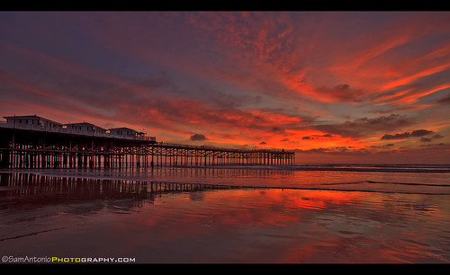 california ocean sand beach sky pier nature pacific blue sunset sandiego seascape landscape crystal surf reflection water clouds shore tourism cottages pacificbeach coastal coastline outdoors structure architecture boardwalk sandiegobeach longexposure crystalpier picturesque cloudy