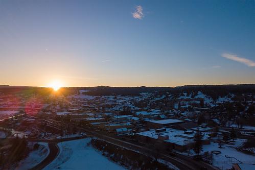 sunset drone mavic dji pagosa springs colorado
