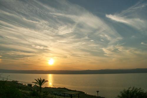 deadsea sea sunset madaba balka jordanië jo