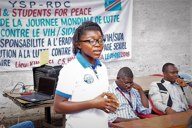 DR Congo-2018-12-01-World AIDS Day Honored by Youth and Students for Peace