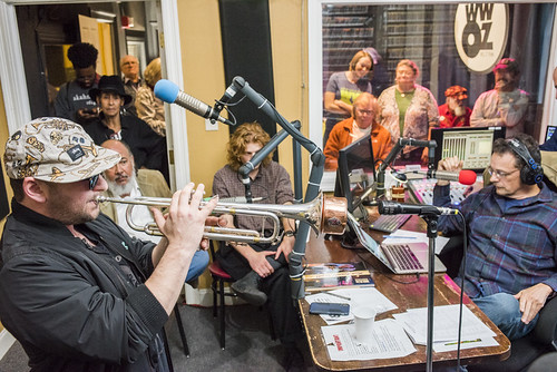 Eric Benny Bloom and David Torkanowsky at WWOZ's 38th birthday - 12.4.18. Photo by Ryan Hodgson-Rigsbee rhrphoto.com.