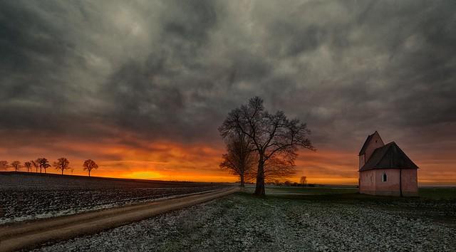 Sunset near Sünching