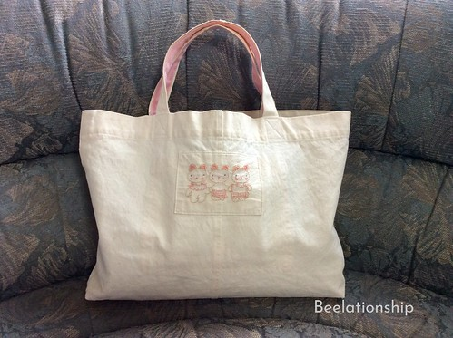 Triplets Bears Tote Bag | by Beelationship Embroidery Studio