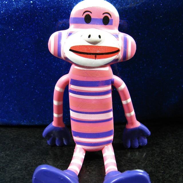 other stripes- sock monkey, bendable