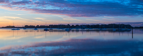 sunrise bluehour emsworthharbour yachts skys wetreflection reflections