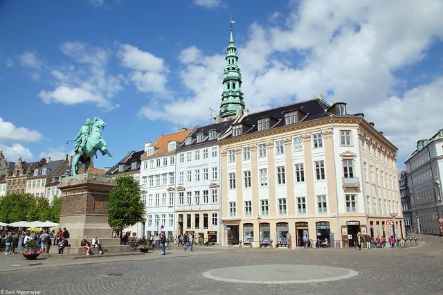 Reiterstatue von Absalon in der Innenstadt von Kopenhagen (26.06.17)