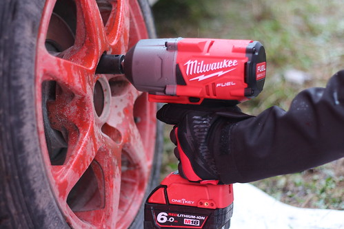 High torque impact wrench with Milwaukee gloves | by Dag Kirin