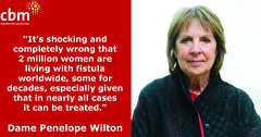 May – Penelope Wilton speaks out on International day to end Obstetric Fistula