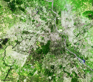 Delhi, the second largest metropolis in India, with a population of 16 million. Original from NASA. Digitally enhanced by rawpixel.