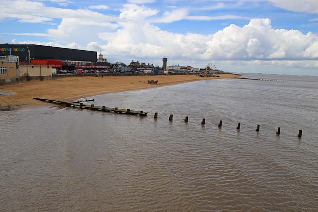 The beach at Cleethorpes