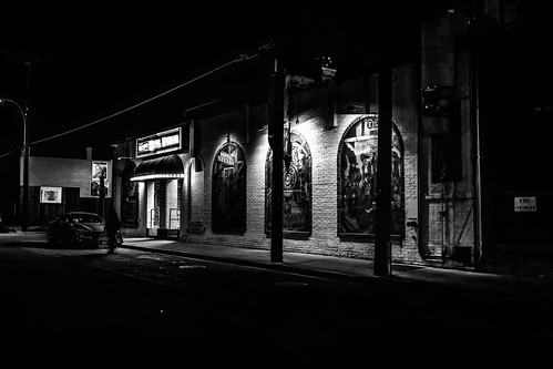 solemn night d850 urban landscape monochrome hotel street nighttime serious creepy quiet nevada blackwhite scary ely unitedstates us