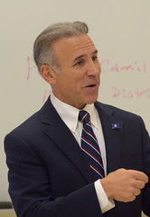 State Rep. Fred Camillo (R-Greenwich) speaks to a civics class at Greenwich High School on December 5, 2018.