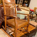 Hardwood tall back rocking chair E80