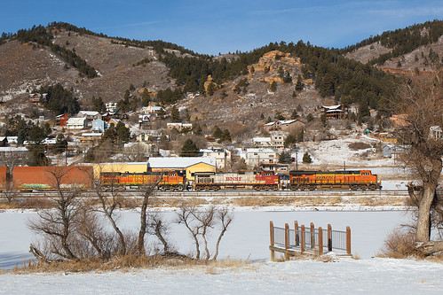 bnsf bnsf6734 ge generalelectric es44c4 gevo palmerlake colorado jointline rampartrange qtrain train railroad
