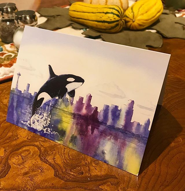 I had cards printed from my orca painting - just got them … | Flickr