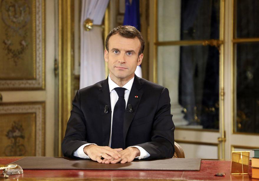 法國總統馬克宏。(圖片來源:Ludovic Marin/AP)