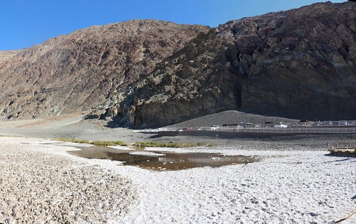 0128 View of the bad water itself, with the Sea Level sign on the hillside to the right, from Badwater, Death Valley | by _JFR_